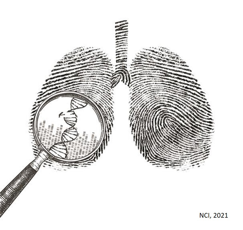 Origins of lung cancer in never smokers