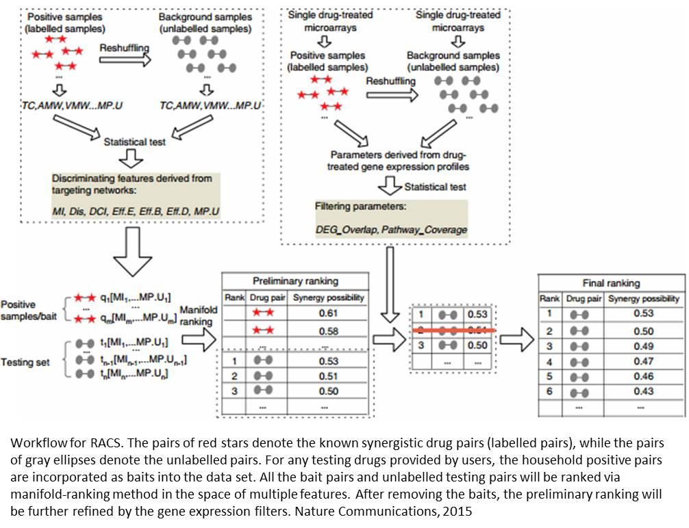 RACS (Ranking-system of Anti-Cancer Synergy) tool to improve drug synergy prediction