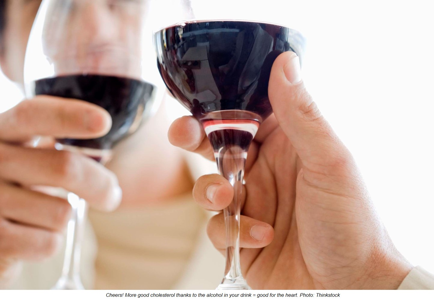 Fewer heart problems in people who drink moderately and often