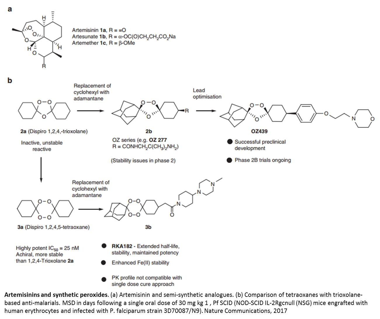 The first synthetic one-dose antimalarial molecule synthesized!