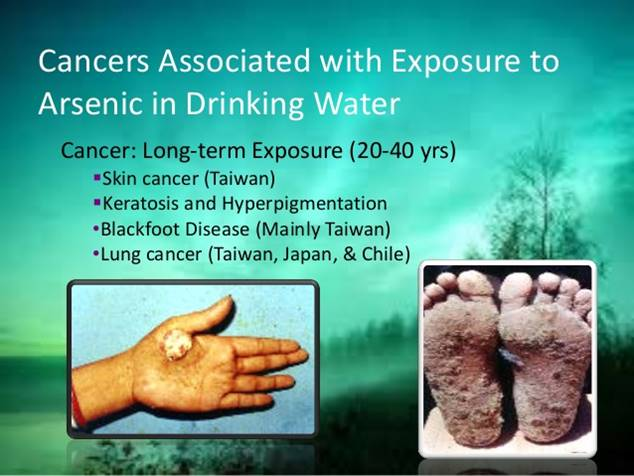Arsenic can cause cancer decades after exposure ends