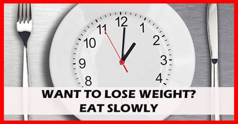 Slow eating speed may be linked to weight loss