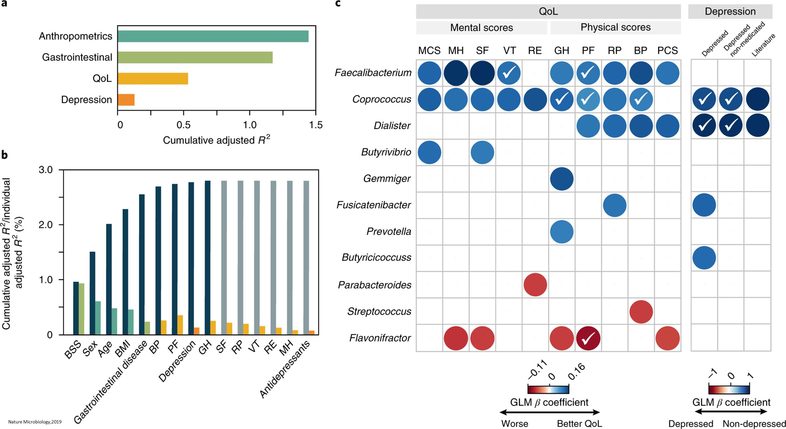 Linking human gut microbiome to depression and mental health