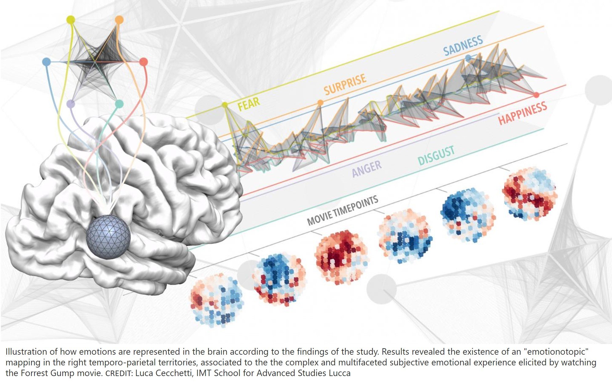 Mapping emotional region in the brain