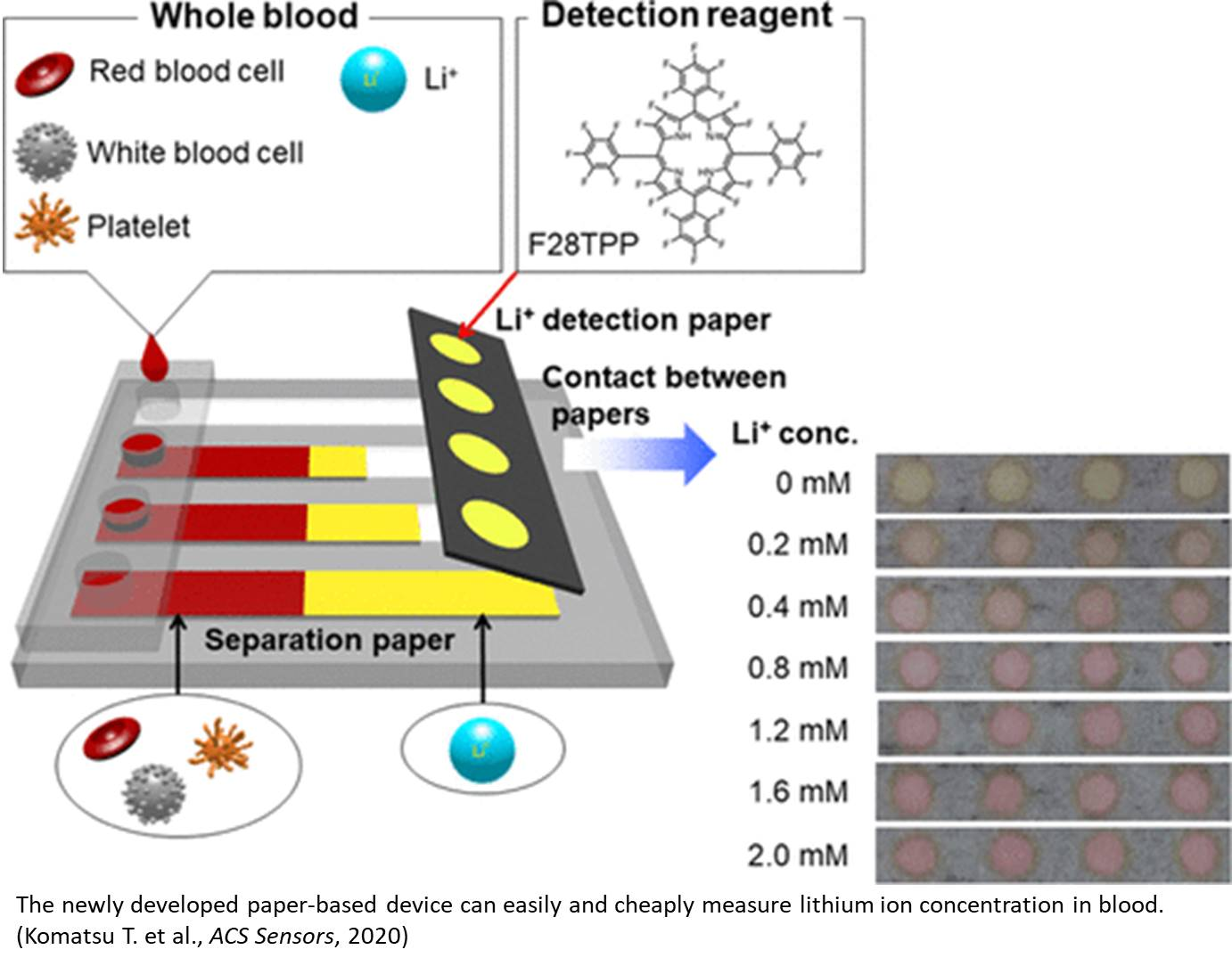 New paper based device to quickly detect lithium ions in blood of bipolar disorder patients